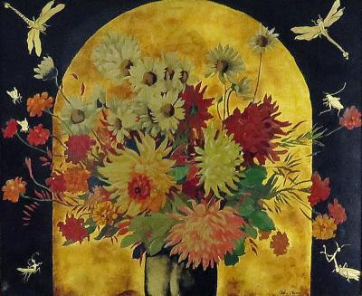 Alix Aym Still Life with Flowers and Insects