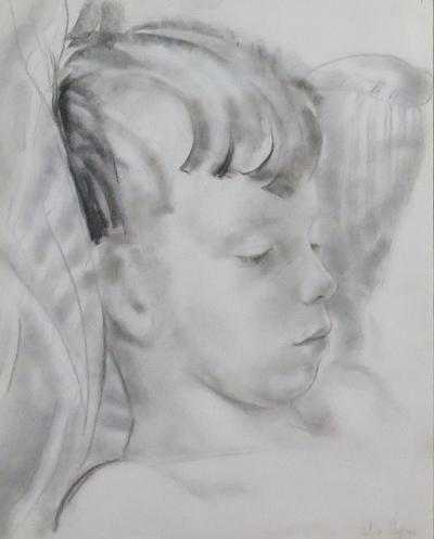Alix Aym Study of the Head of a Young Boy