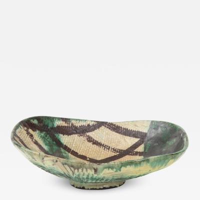 Allan Ebeling Danish Mid Century Oblong Ceramic Bowl by Allan Ebeling 1957
