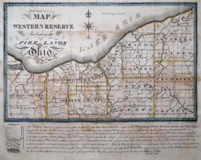 Allen Taylor Map of the Western Reserve Including the Fire Lands in Ohio