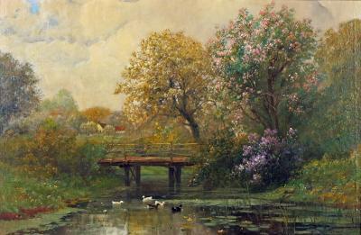 Alois Arnegger Springtime by Alois Arnegger