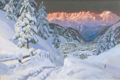 Alois Arnegger Winter View of Kitzb hel Austria