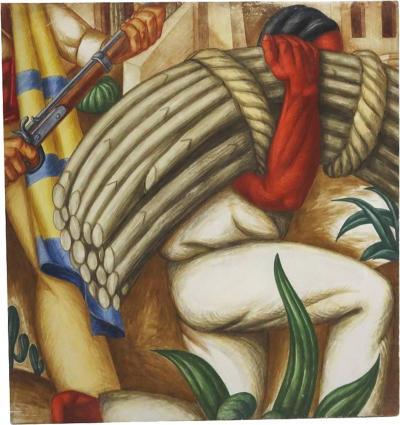 Alois Jr Fabry WPA Mural Study for San Antonio Texas Post Office by Alois Fabry Jr 1937