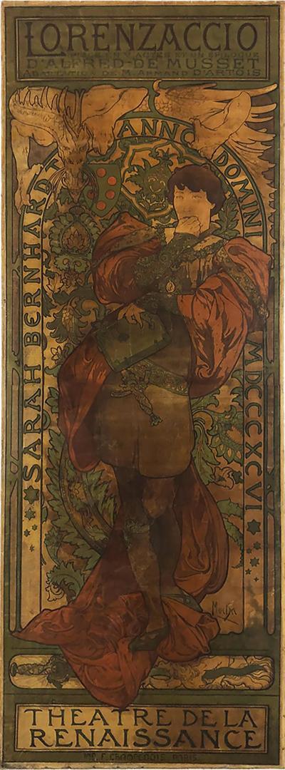 Alphonse Maria Mucha ALPHONSE MUCHA LORENZACCIO poster 1890