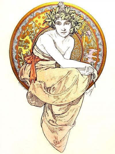 Alphonse Maria Mucha Alfons Mucha Anatole France Clio 13 Original Lithographs 1900