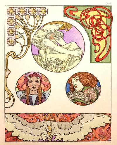 Alphonse Maria Mucha Alfons Mucha Original Lithograph Femmes Art Nouveau 1902