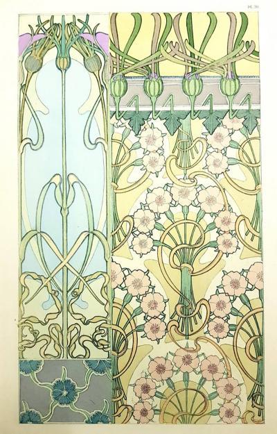 Alphonse Maria Mucha Alfons Mucha Original Lithograph Flowers 1902