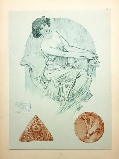 Alphonse Maria Mucha Alfons Mucha Original Lithograph Women 1902