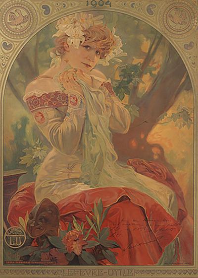 Alphonse Maria Mucha French Art Nouveau Lithograph La Princesse Lointaine by Alphonse Mucha