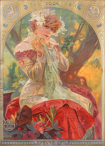 Alphonse Maria Mucha Sarah Bernhardt as La Princess Lointaine