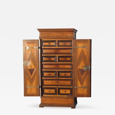 Alpine Baroque 18th century inlaid petit Cabinet