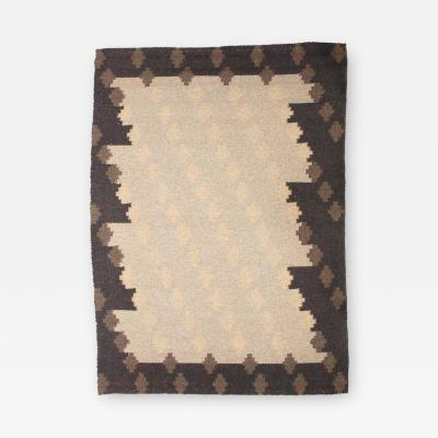 Altered Parallels Wool and Linen Carpet by Sally Vowell Gurley 1984