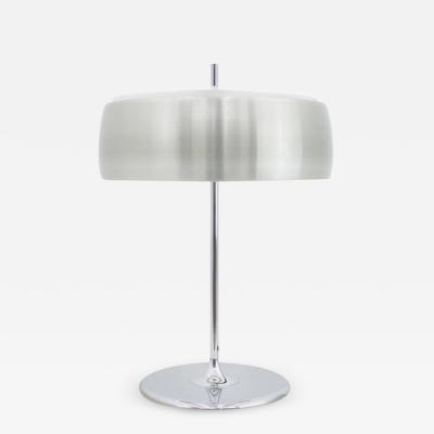 Aluminium and Chrome Table Lamp by WILA 1970s