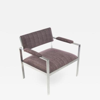 Aluminum Lounge Chair in the Style of Harvey Probber Circa 1960s