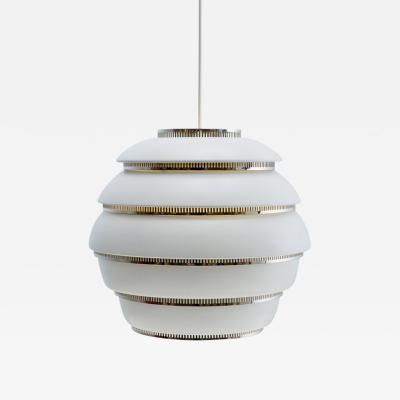Alvar Aalto Alvar Aalto A331 Beehive Pendant Light for Artek in White Chrome