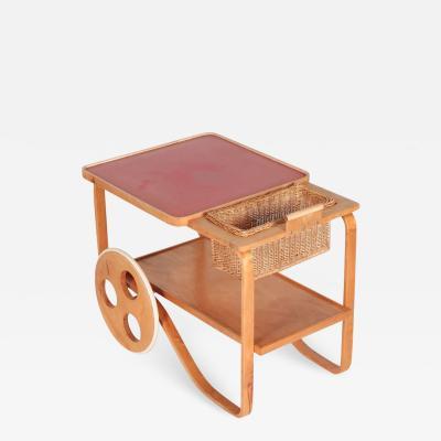 Alvar Aalto Alvar Aalto Bar Cart Serving Trolley Wohnbedarf 30s
