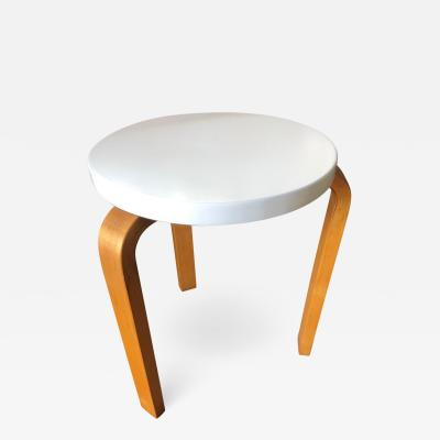 Alvar Aalto Alvar Aalto Early Finsven Stamped Stool Small Table Lacquer Top