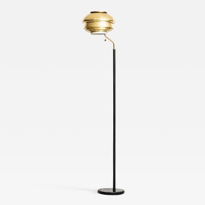 Alvar Aalto Floor Lamp Model A 808 Produced by Valaistusty in Finland