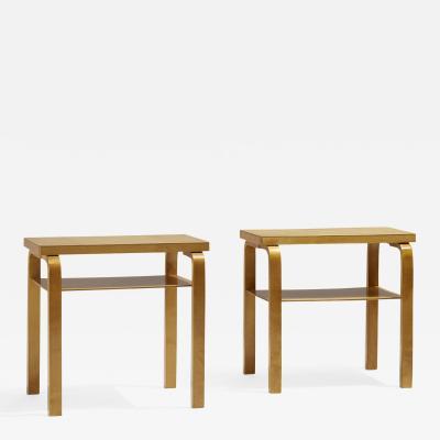 Alvar Aalto L Leg occasional tables pair