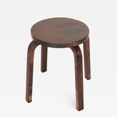 Alvar Aalto Mid Century Danish Modern Rare Rosewood Stool by Alvar Aalto for ARTEK