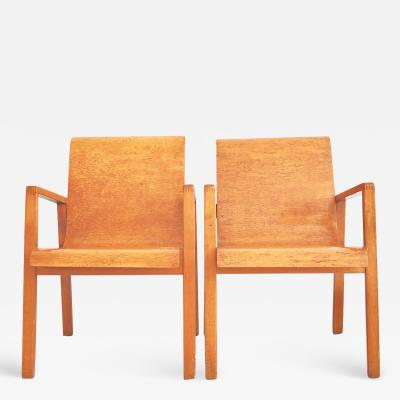 Alvar Aalto Pair of Alvar Aalto Model 403 Hallway Chairs by Finmar Ltd