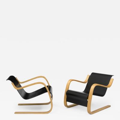 Alvar Aalto Pair of Pikku Paimio armchairs