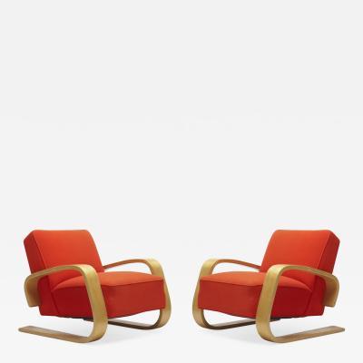 Alvar Aalto Pair of Tank Lounge Chair by Alvar Aalto