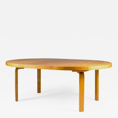 Alvar Aalto Rare Dining Table by Alvar Aalto in Karelian Birch