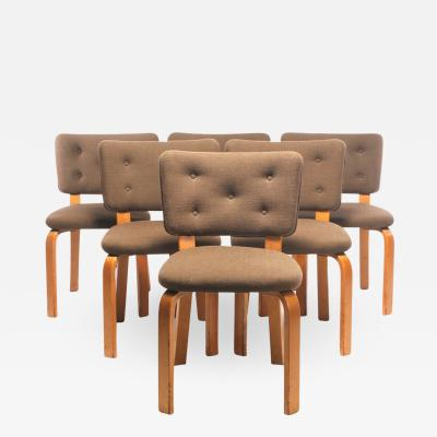Alvar Aalto Set of 8 Upholstered Dining Chairs