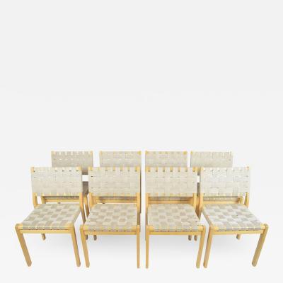 Alvar Aalto Set of Eight Alvar Aalto 615 Chairs