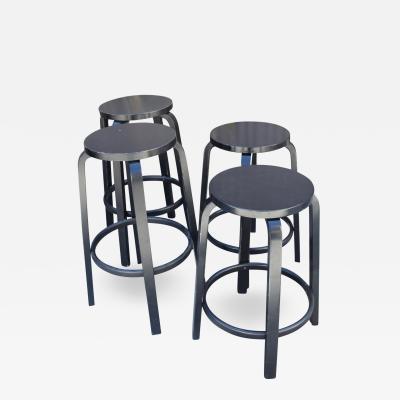 Alvar Aalto Set of Four Artek Barstools Stool by Alvar Aalto Mid Century Modern