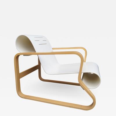 Alvar Aalto White Lacquered Paimio 41 Armchair by Alvar Aalto