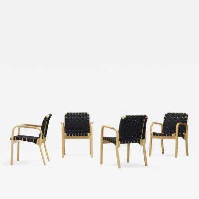 Alvar Aalto armchairs model 45 set of 4