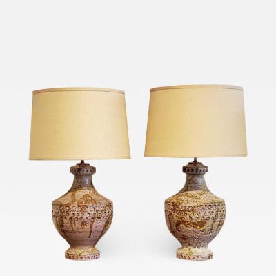 Alvino Bagni 1960s Alvino Bagni Tirli Decor Table Lamps a Pair