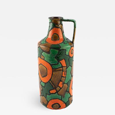 Alvino Bagni Alvino Bagni for Raymor orange and green vase circa 1960s