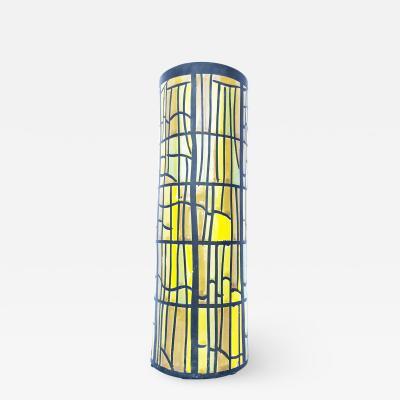 Alvino Bagni Beautiful Bright Cylinder Mosaic Decor Italian Vase by Alvino Bagni for Raymor