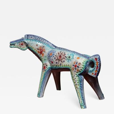 Alvino Bagni Ceramic Horse Sculpture by Alvino Bagni for Bitossi