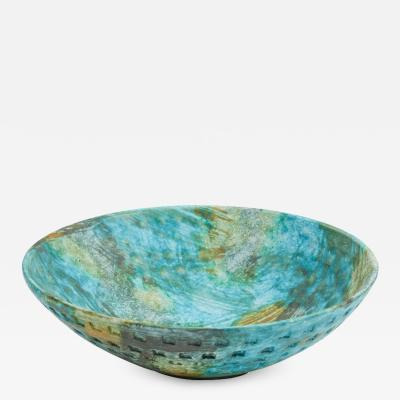 Alvino Bagni NW 46 colorful sea garden bowl by Alvino Bagni for Raymor