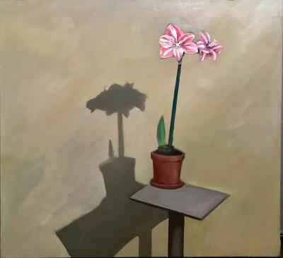 Amaryllis by Jimmy Lueders Large Oil on Canvas