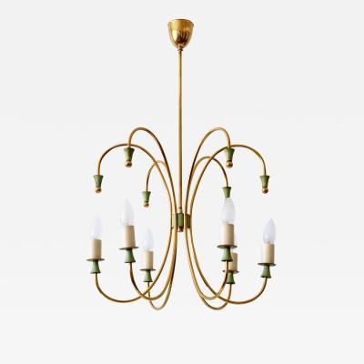 Amazing Mid Century Modern Six Armed Sputnik Chandelier or Pendant Lamp 1950s