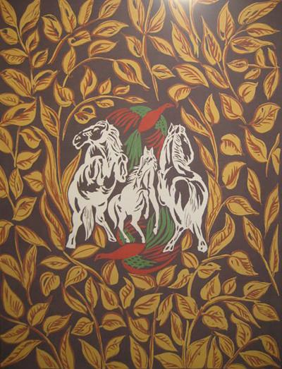 Amazing Raoul Dufy Aubusson Tapestry Signed