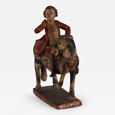 Ambassador A Spanish Colonial Equestrian Figure Audiencia de Quito 18th C
