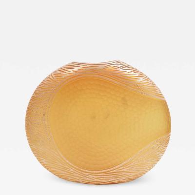Amber and Gold Murano Battuto Vase