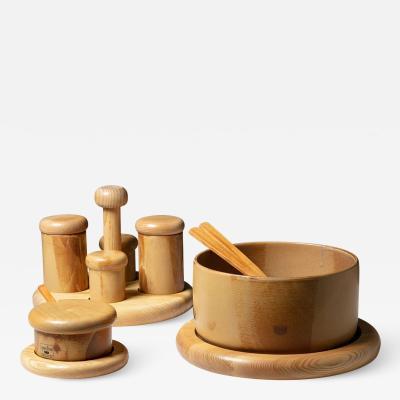 Ambrogio Pozzi Bombolo Ceramic Set by Ambrogio Pozzi for Ceramiche for Pozzi