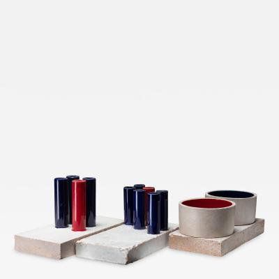 Ambrogio Pozzi Set of Three Tubi Tubi Centerpieces by Ambrogio Pozzi