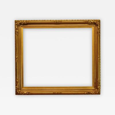 American 1865 Gold Leaf Reeded Cove Picture Frame 28x33