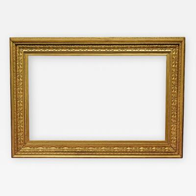 American 1915 Salvatore Rosa Carved Gilded Picture Frame 30x48
