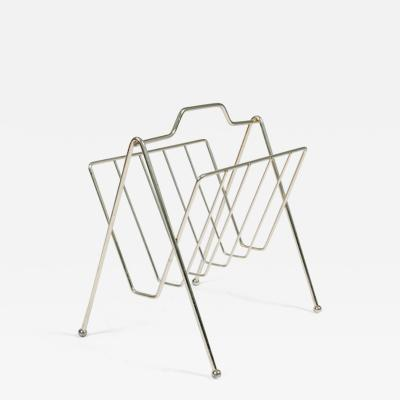 American 1970s brass magazine rack