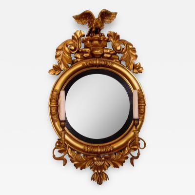 American 19th Century Gilt Girandole Mirror