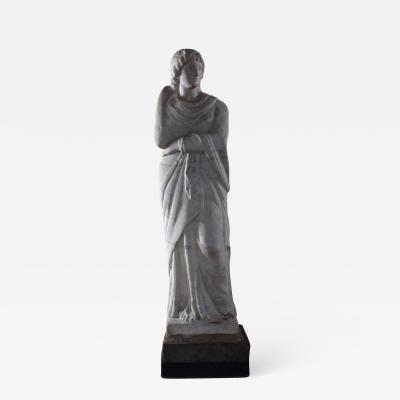 American 19th Century Greek Revival Marble Statue